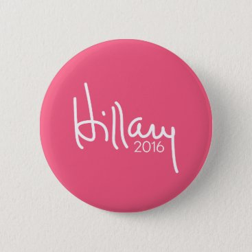 Hillary Clinton 2016 Campaign Gear Pink Pinback Button