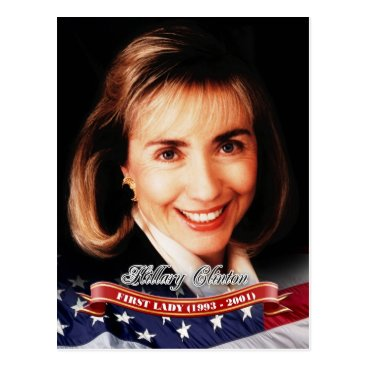 Hillary Clinton, First Lady of the U.S. Postcard