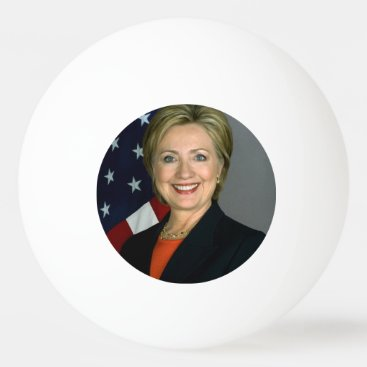 Hillary Clinton Official Portrait Ping-Pong Ball