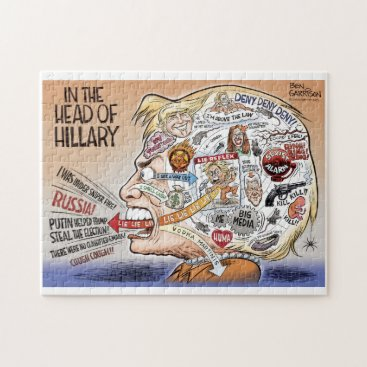 Hillary Clinton Pieces of Her Mind Jigsaw Puzzle