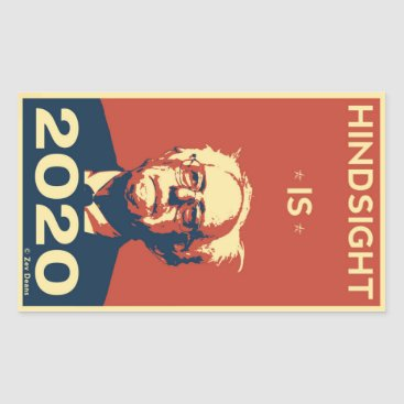 HINDSIGHT IS 2020 RECTANGULAR STICKER