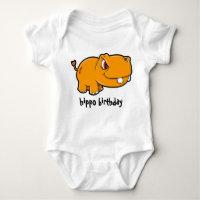 Hippo Birthday Baby Bodysuit
