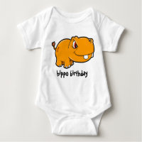 Hippo Birthday Baby Bodysuit