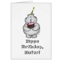 Hippo Birthday - Happy Birthday Card