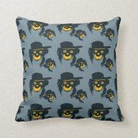Hipster devil pillow   Zazzle