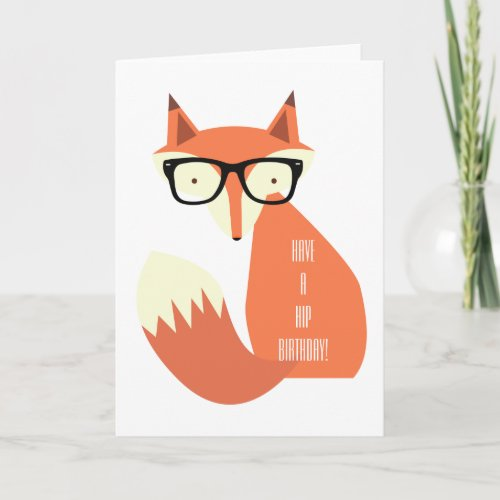 Hipster Fox Card