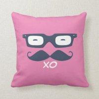 Hipster Throw Pillow   Zazzle