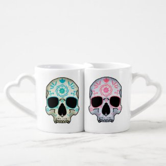 His and Hers Skull Mugs Couple Mugs