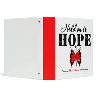 Hold On To Hope - Heart Disease Binder binder