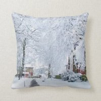 HOLIDAY CHRISTMAS WINTER WONDERLAND THROW PILLOW | Zazzle