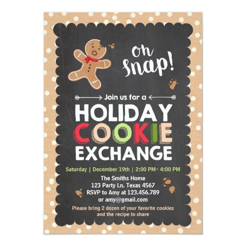Holiday Cookie Exchange Invitation Christmas
