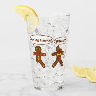 Holiday Gingerbread Humor Christmas Glass