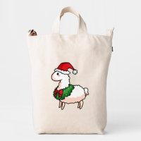 Holiday Llama Elf Duck Bag