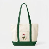 Holiday Llama Elf Tote Bag
