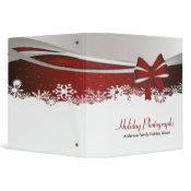 Holiday Photographs Bow binder