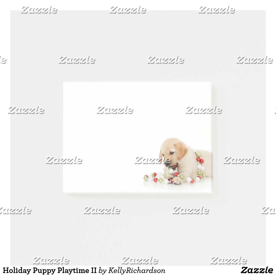 Holiday Puppy Playtime II Post-it Notes