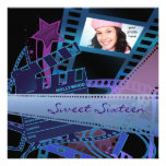 Hollywood Star Sweet 16 Birthday Party Invitations