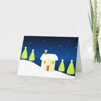 Home and trees - Card card