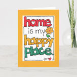 ❤️ Home Is My Happy Place New Home Greeting Card