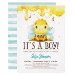 Honey Bee Baby Shower Boy Invitation