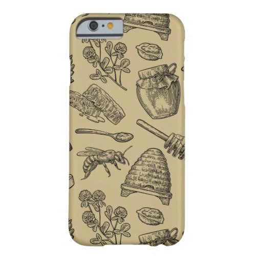 Honey Bee Beehive Vintage Organic Natural Nature Barely There iPhone 6 Case