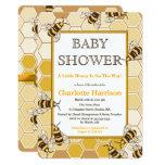 Honey Bees & Honey Comb Neutral Baby Shower Invitation