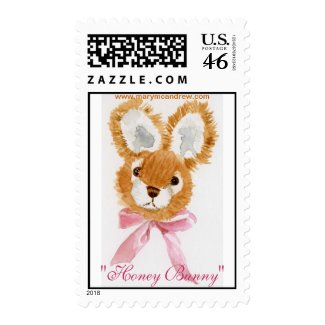"""""""Honey Bunny"""" cuddly toy Stamps"""