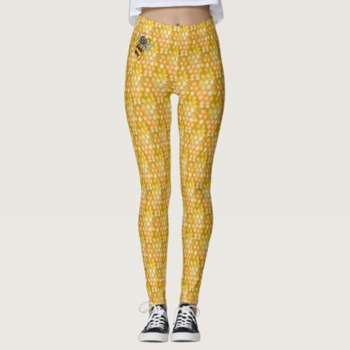 Honeycomb Pattern Leggings