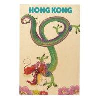 Hong Kong Vintage style travel poster Wood Wall Decor | Zazzle