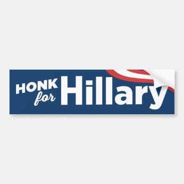 Honk For Hillary Clinton 2016 Bumper Sticker