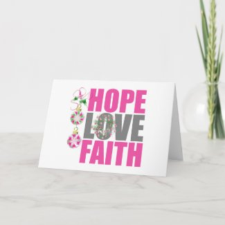 Hope Love Faith Christmas Ornament Wreath card