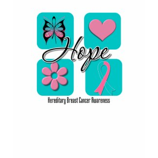 Hope Love Inspire Hereditary Breast Cancer shirt