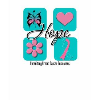 Hope Love Inspire Hereditary Breast Cancer shirt