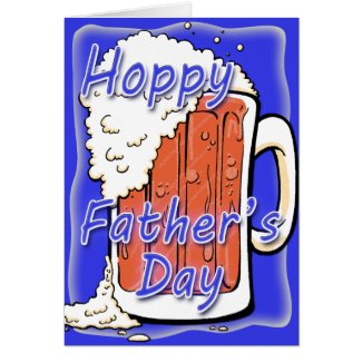 Hoppy Father's Day Ale Mug Greeting Cards