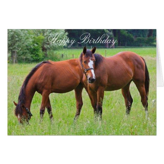 Horse Beautiful Custom Horses Birthday Card Zazzle Com