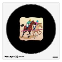 Horse Racing Wall Decals & Wall Stickers | Zazzle