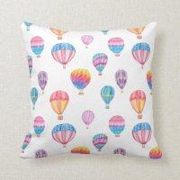 Hot Air Balloon Pattern Pillows | Zazzle
