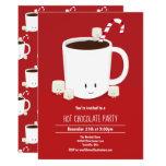 Hot Chocolate Hot Cocoa Christmas Party Cartoon Invitation