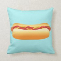 Hot Dog Throw Pillow | Zazzle