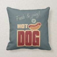Hotdog Pillows - Decorative & Throw Pillows | Zazzle