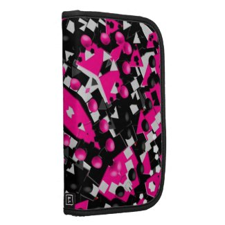 Hot Pink Abstract Folio Planners