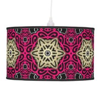 Hot Pink Black & Gold Table / Hanging Lamp Shade | Zazzle