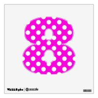 Hot Pink Polka Dots Wall Decals & Wall Stickers | Zazzle