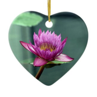 Hot Pink Water Lily Ornament ornament