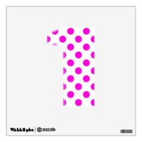 Pink Polka Dot Letter Wall Decals & Wall Stickers | Zazzle
