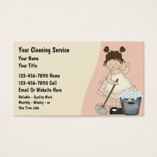 Cleaning Lady Business Cards & Templates Zazzle