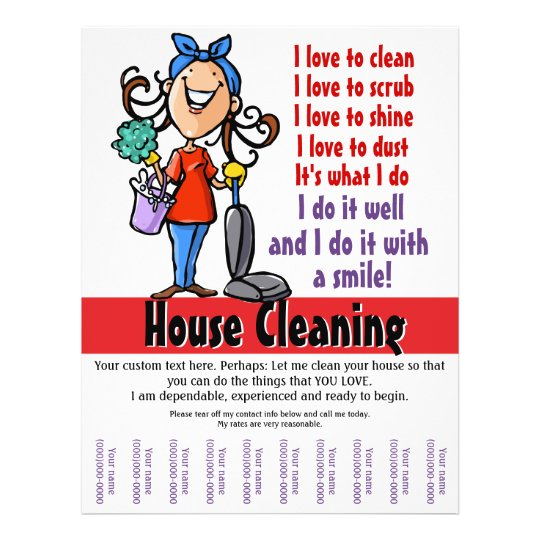 housecleaning flyers