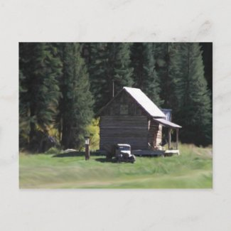 House In The Woods postcard