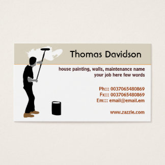 House painting business cards home painting painter business cards templates zazzle colourmoves Images