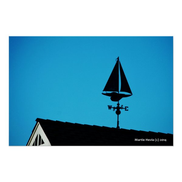 House Sailboat Vane Posters